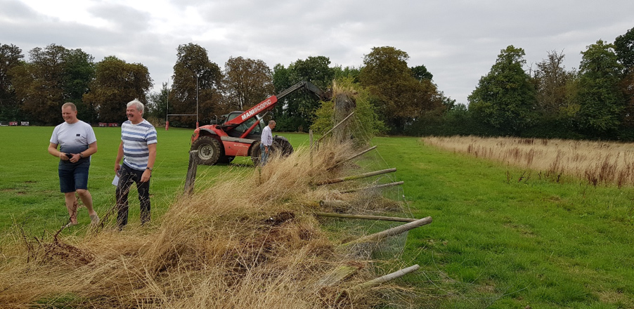 Tows development - taking down fence